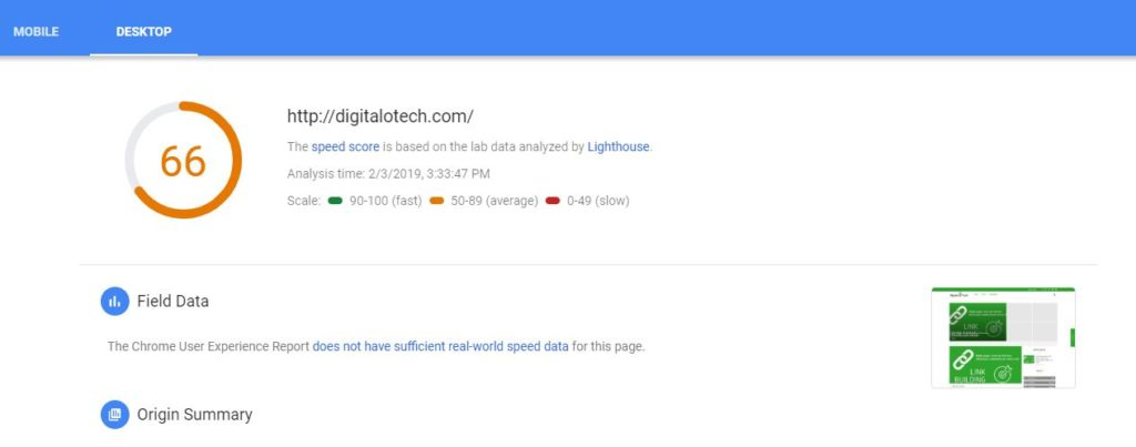 Google Page speed SEO tool